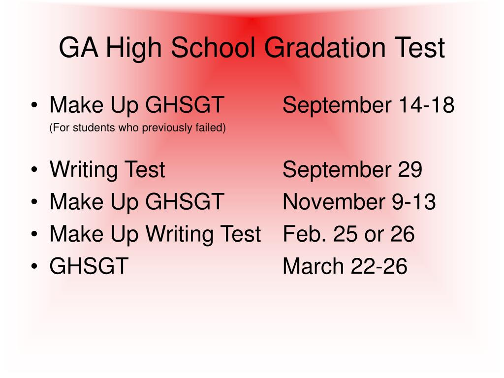 GA High School Gradation Test
