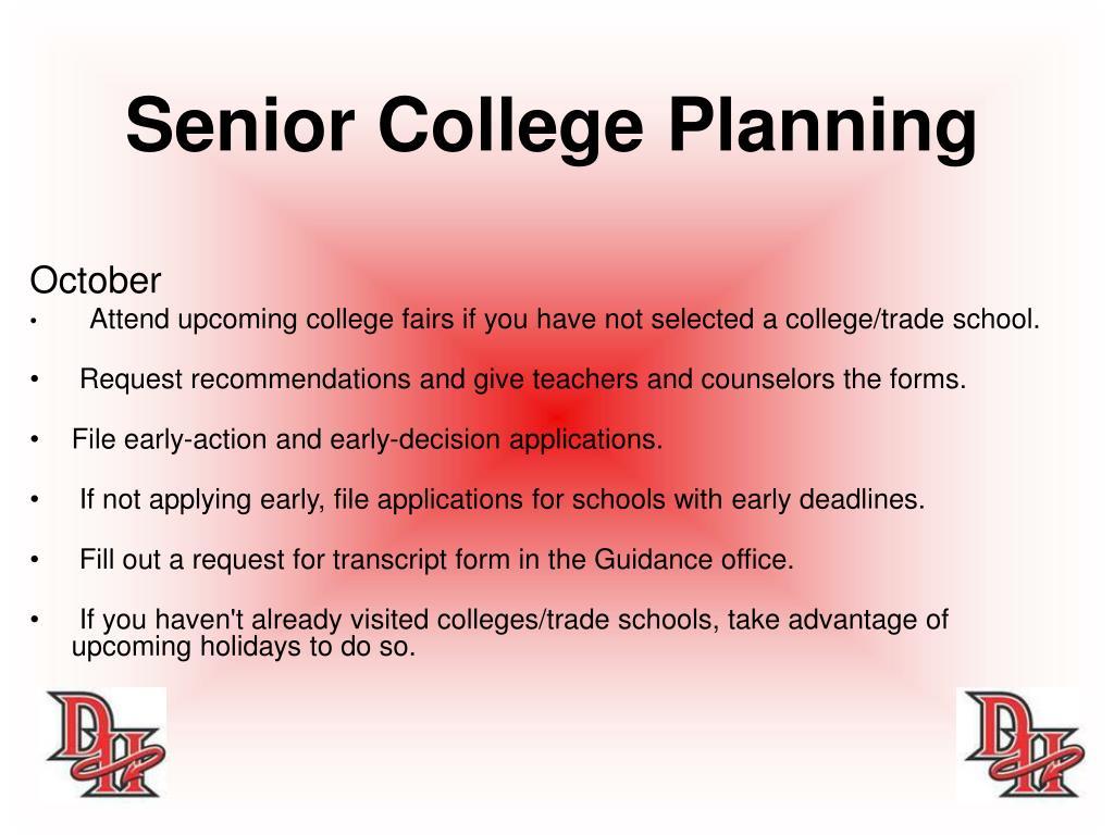 Senior College Planning