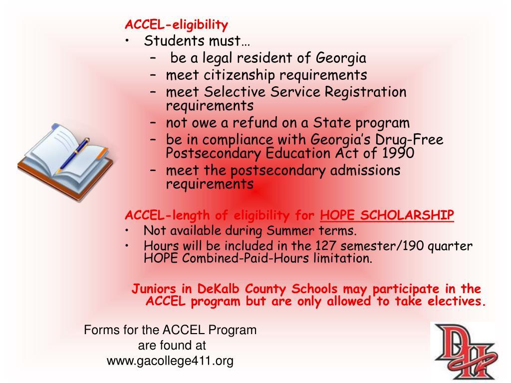 ACCEL-eligibility
