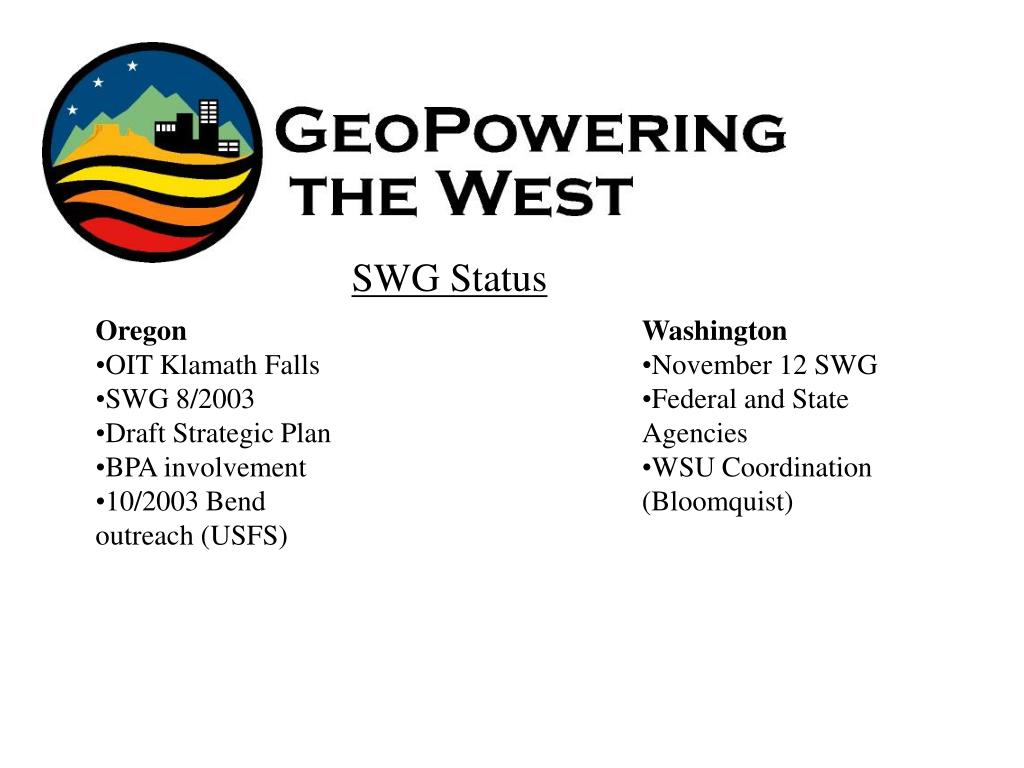SWG Status