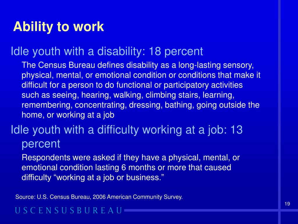 Ability to work