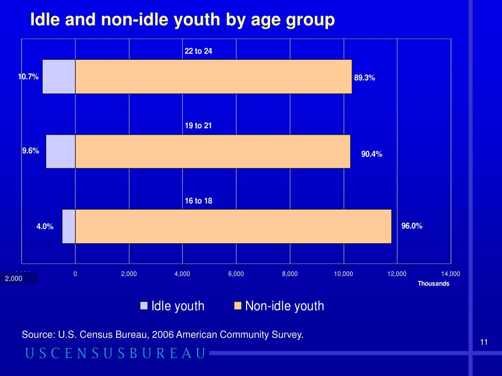 Idle and non-idle youth by age group