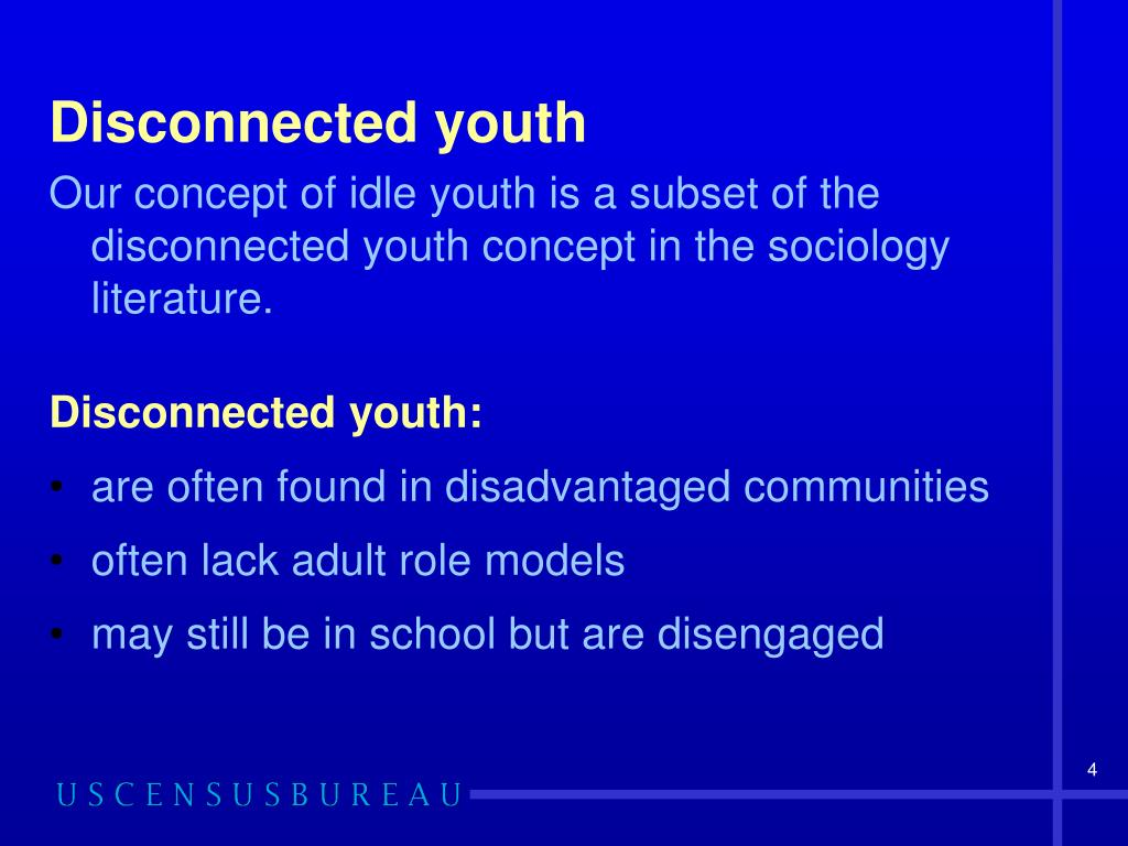 Disconnected youth