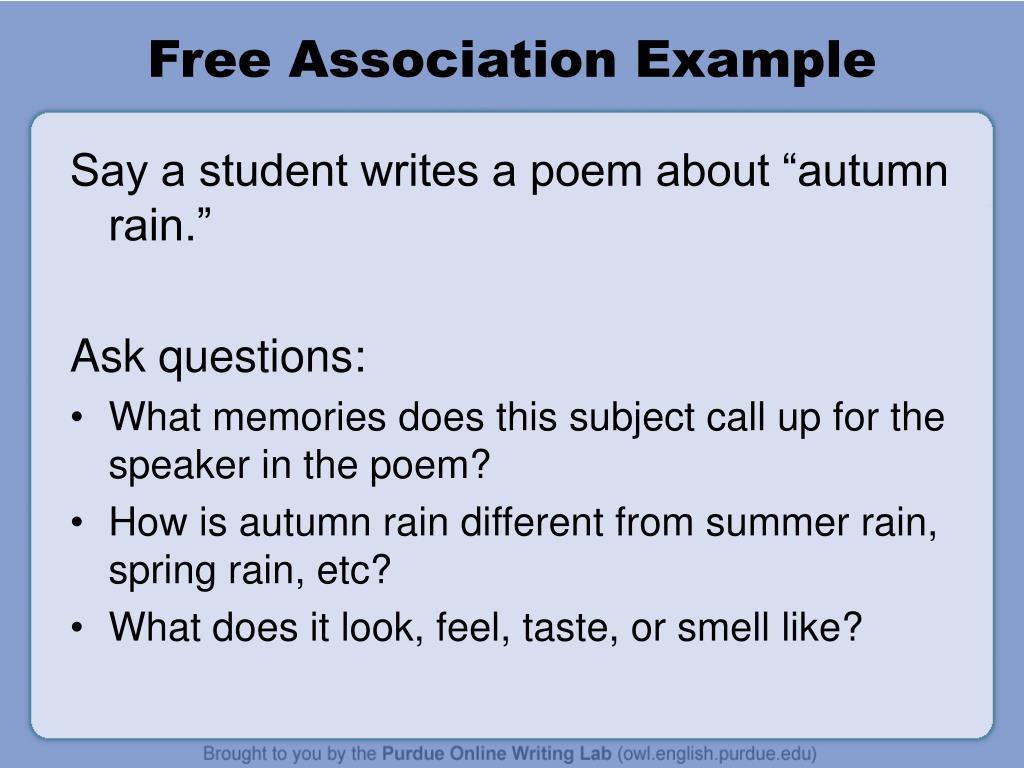 Free Association Example