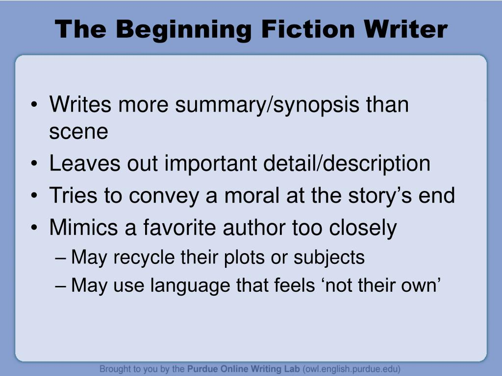 The Beginning Fiction Writer