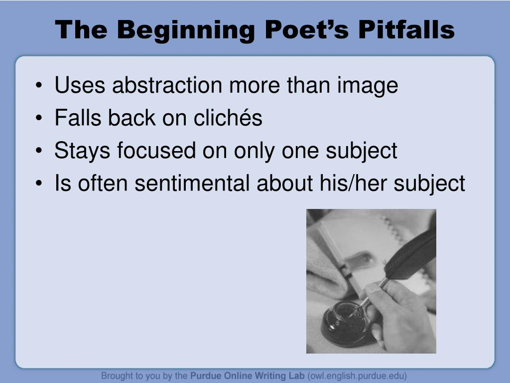 The Beginning Poet's Pitfalls