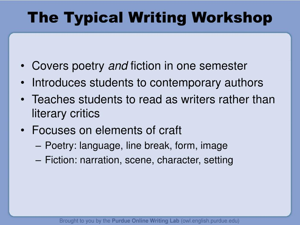The Typical Writing Workshop