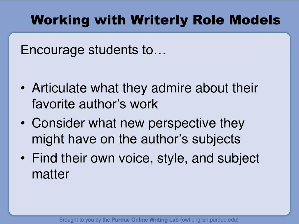 Working with Writerly Role Models