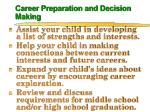 career preparation and decision making