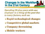 changes in the workforce in the 21st century