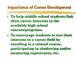 importance of career development