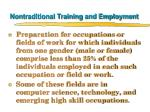 nontraditional training and employment