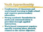youth apprenticeship