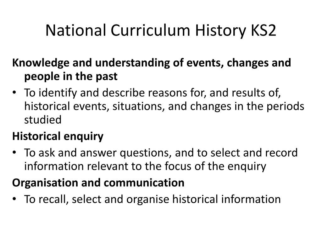 National Curriculum History KS2