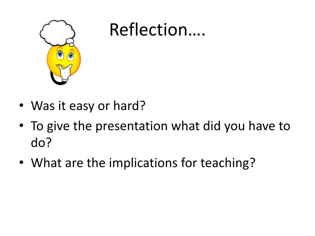Reflection….