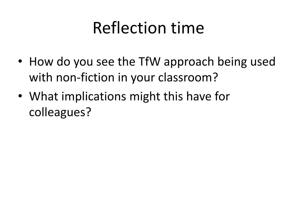 Reflection time