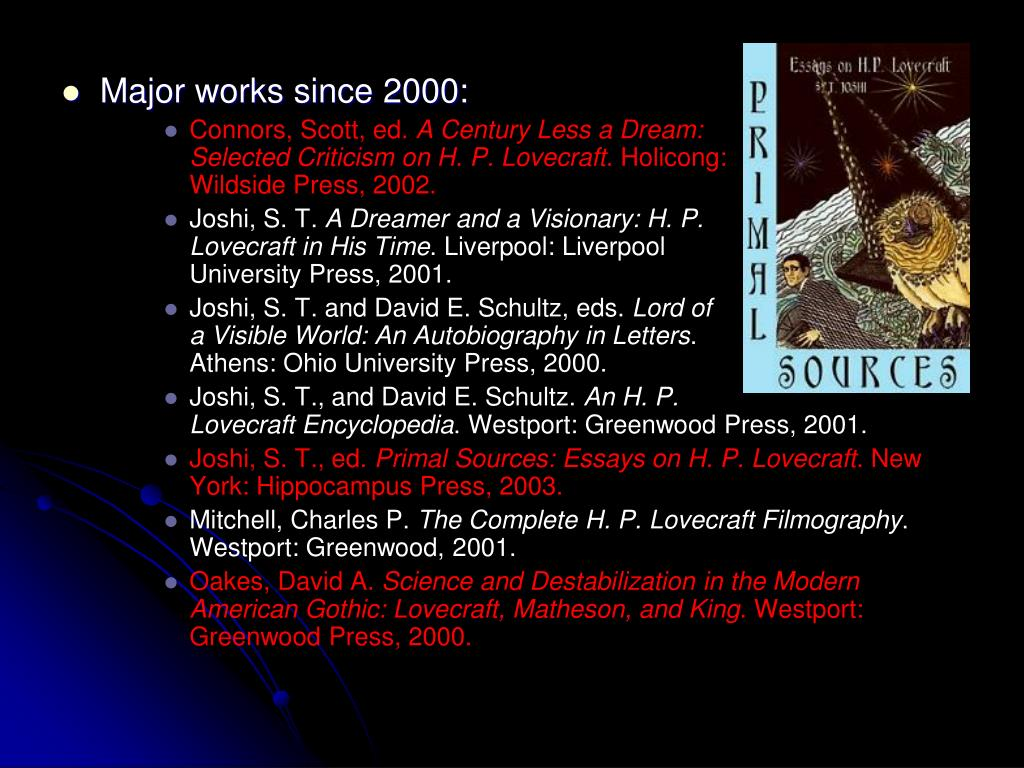 Major works since 2000:
