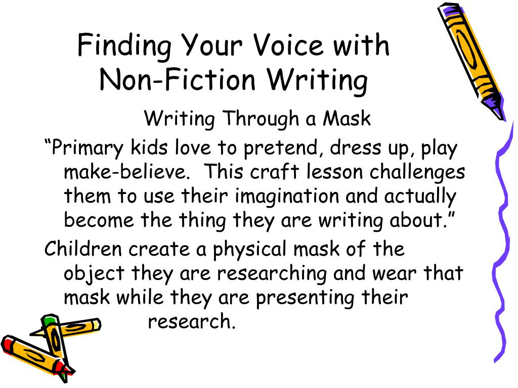 Finding Your Voice with Non-Fiction Writing