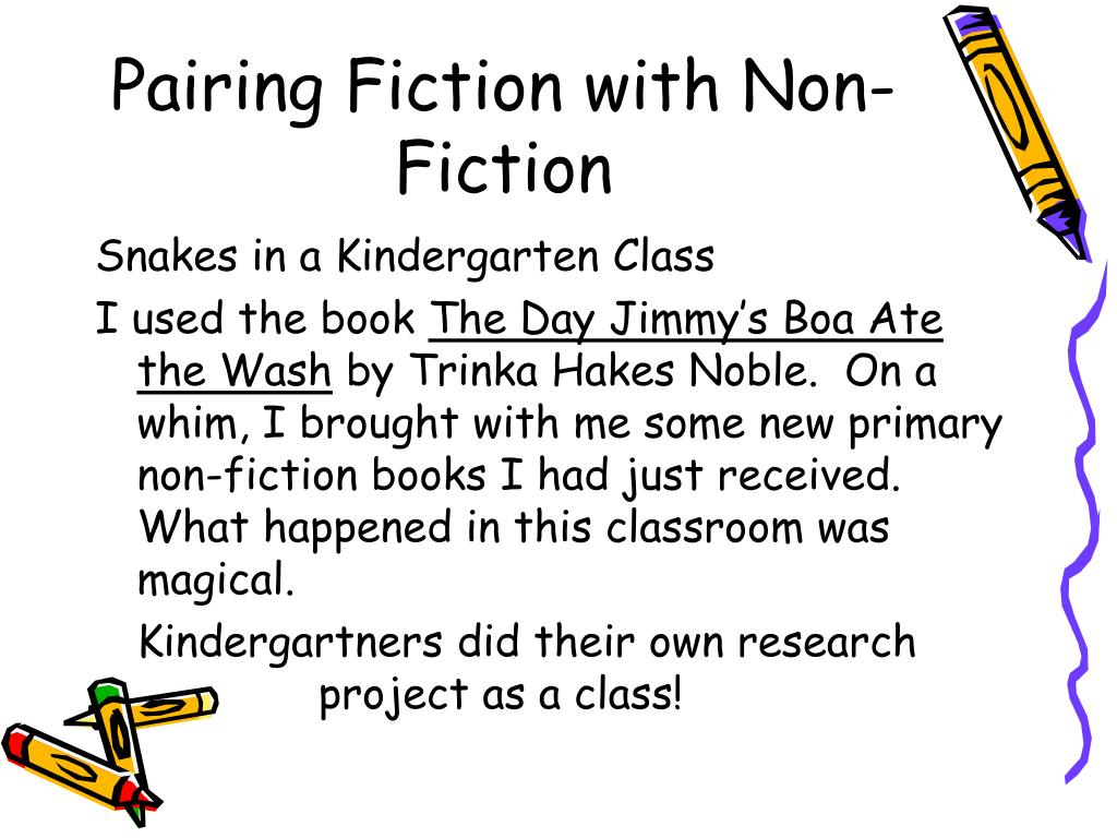 Pairing Fiction with Non-Fiction