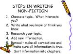 steps in writing non fiction