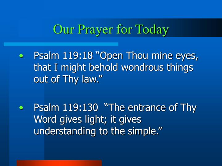 Our prayer for today l.jpg