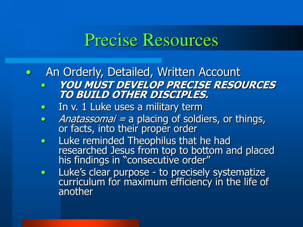 Precise Resources