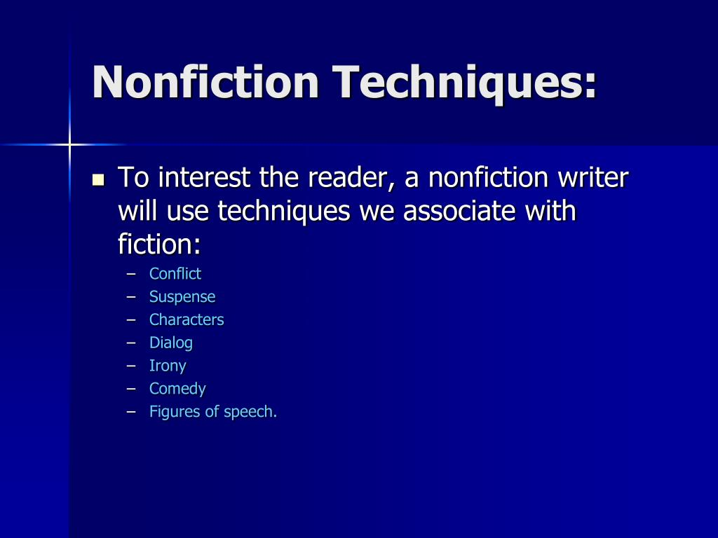 Nonfiction Techniques: