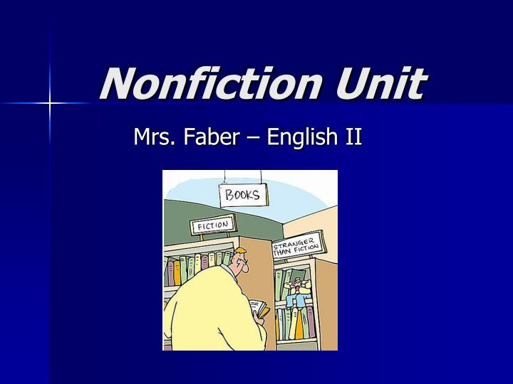 Nonfiction unit