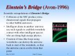 einstein s bridge avon 1996
