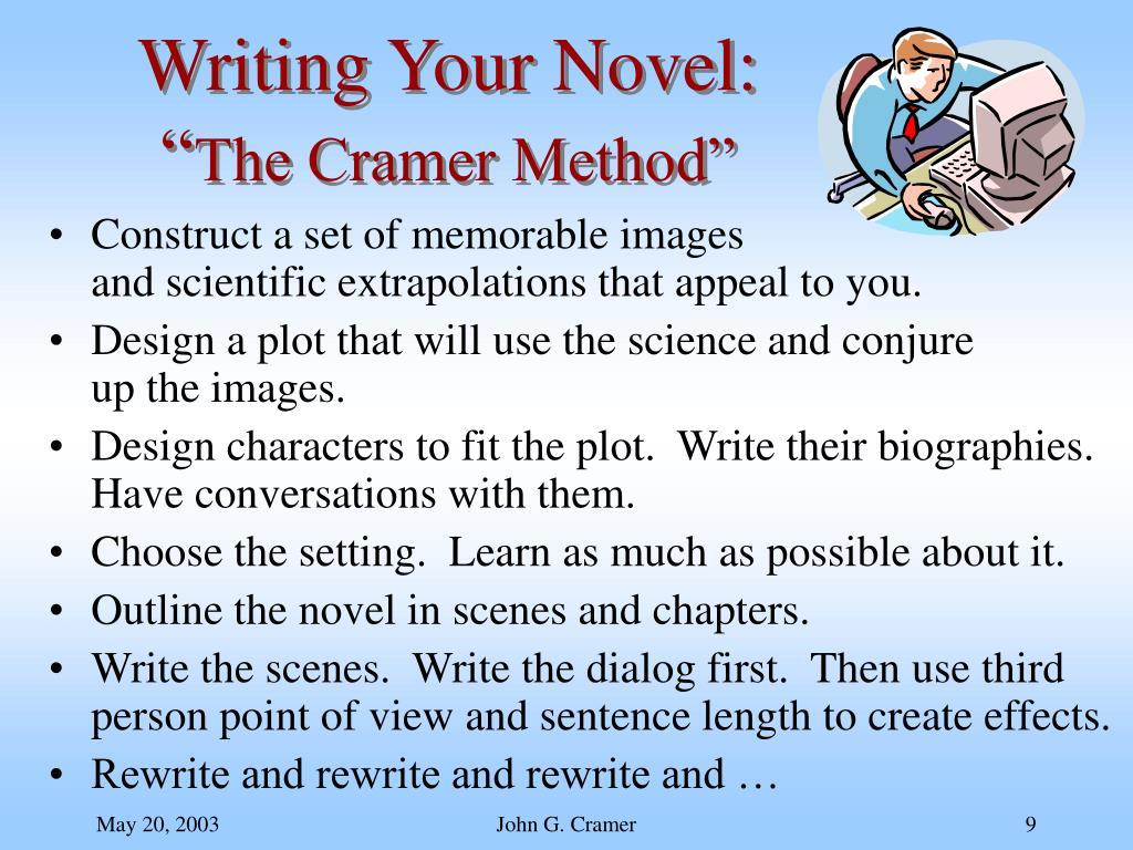 Writing Your Novel: