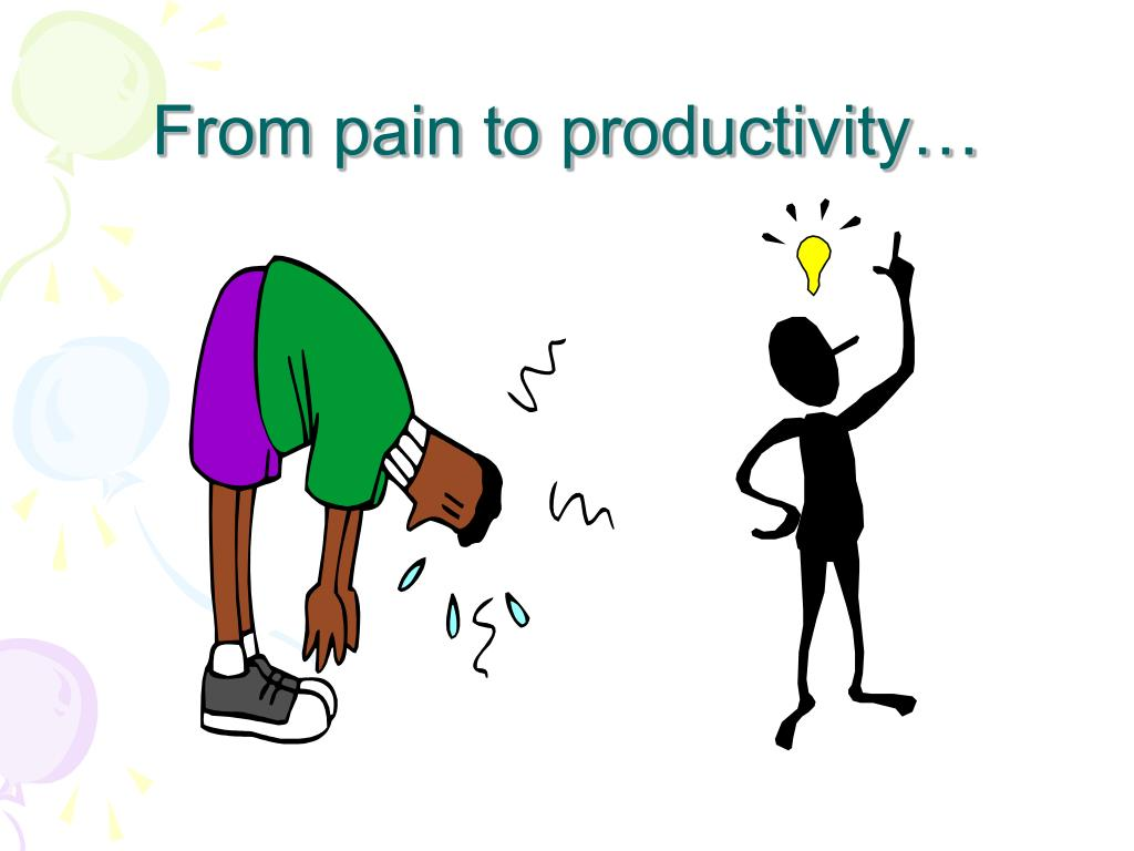 From pain to productivity…