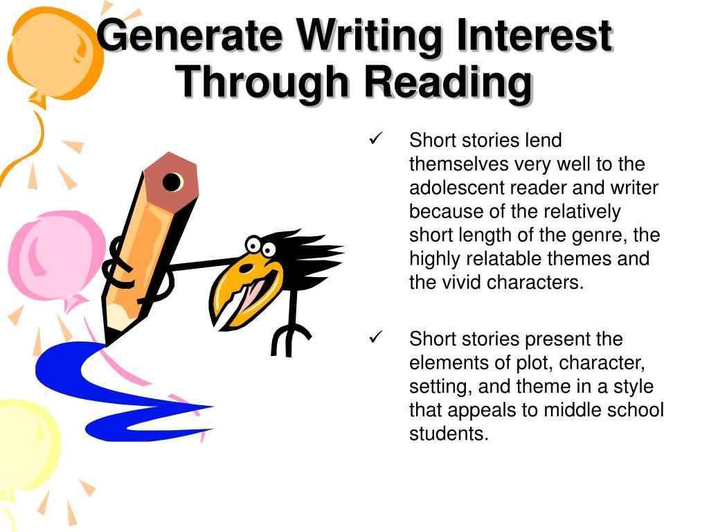 Generate Writing Interest Through Reading