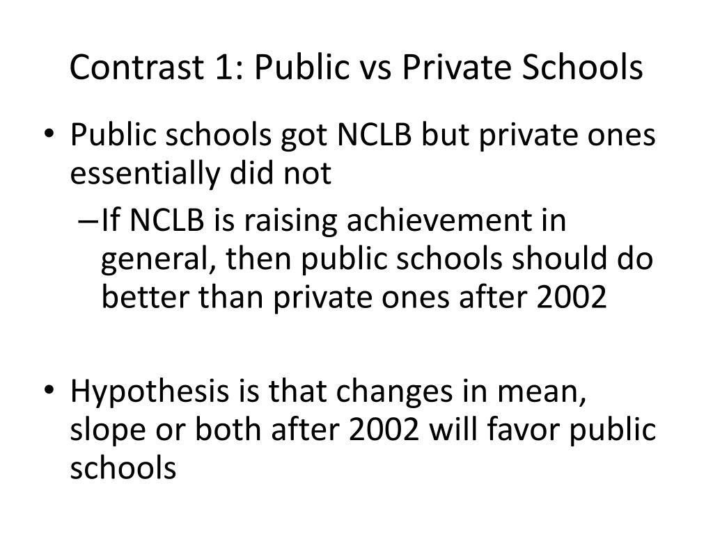 a comparison of public and private schooling Many people in today's society believe it's wise to send their children to private schools in making the decision on whether to put children in public or private schools, they look to four main factors: curriculum, class size, the graduation rate, and cost.