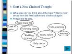 4 start a new chain of thought