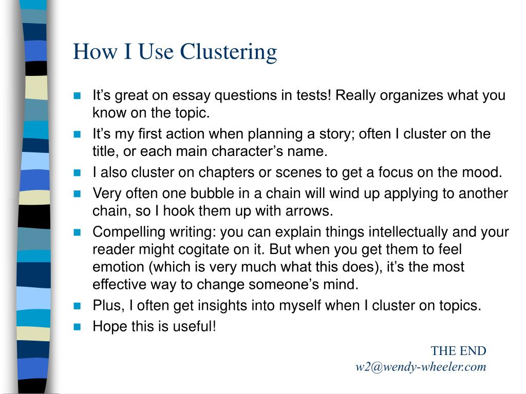 How I Use Clustering