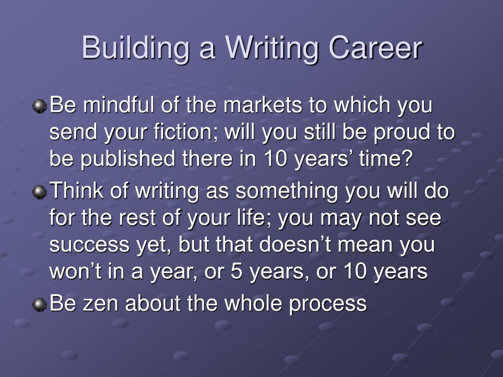 Building a Writing Career