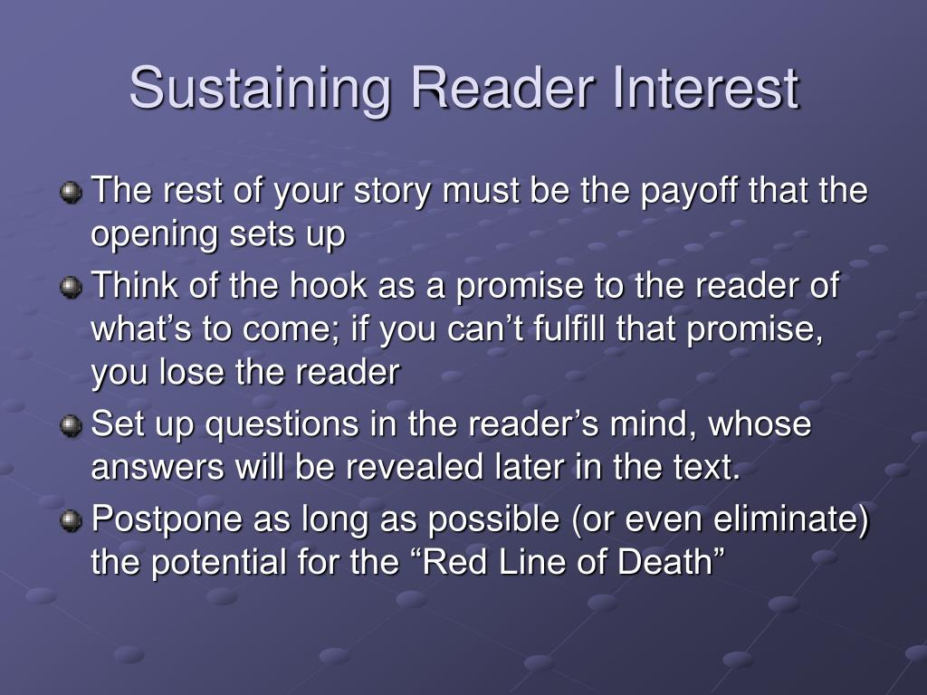 Sustaining Reader Interest
