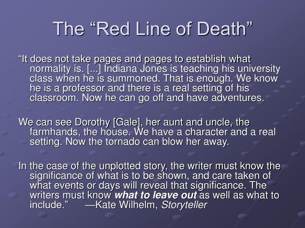 "The ""Red Line of Death"""