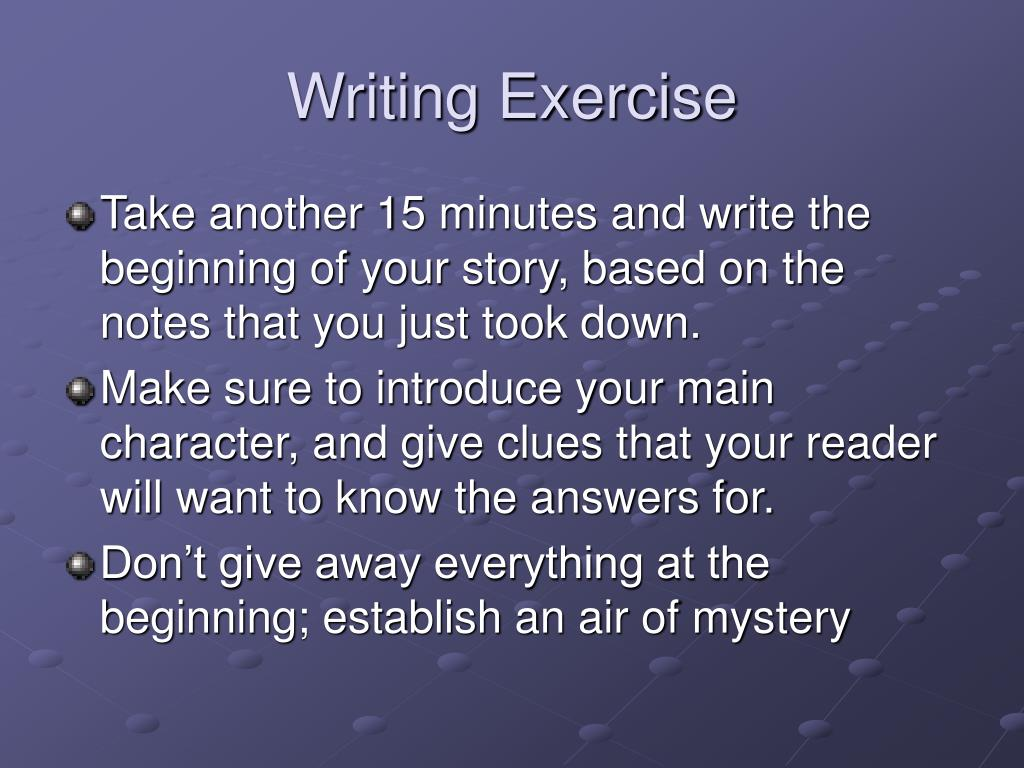 Writing Exercise