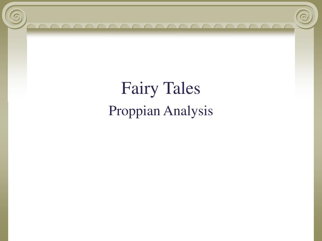 fairy tales analysis The practical part is based on the analysis of the two most  fairy tales, gender,  gender identity, gender role, gender stereotypes, stereotype,.