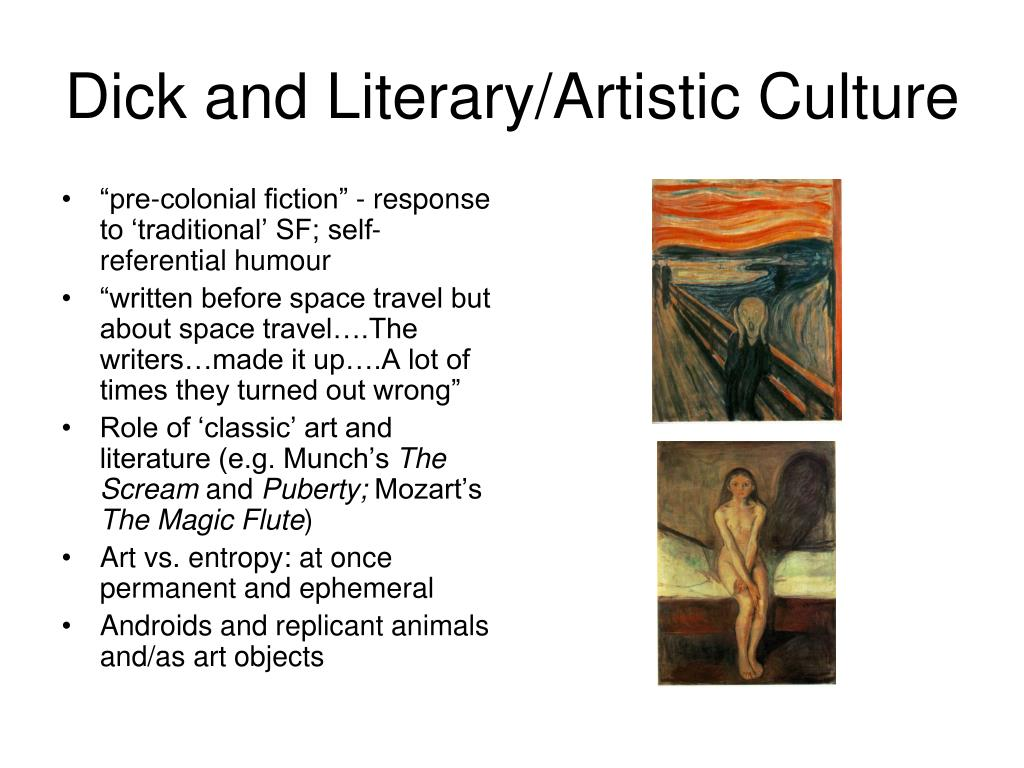 Dick and Literary/Artistic Culture