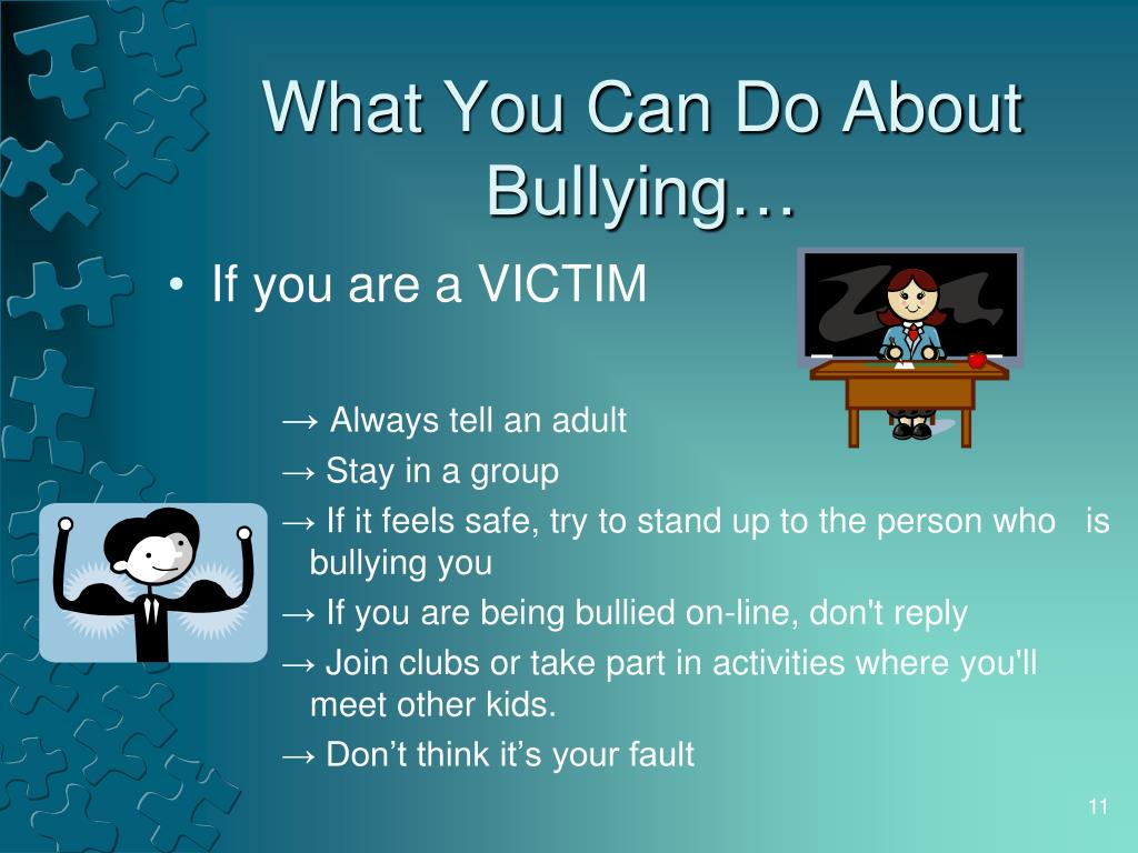 What You Can Do About Bullying…