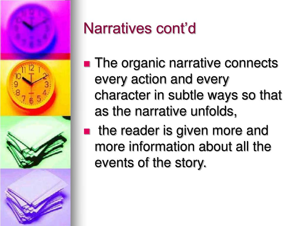 Narratives cont'd