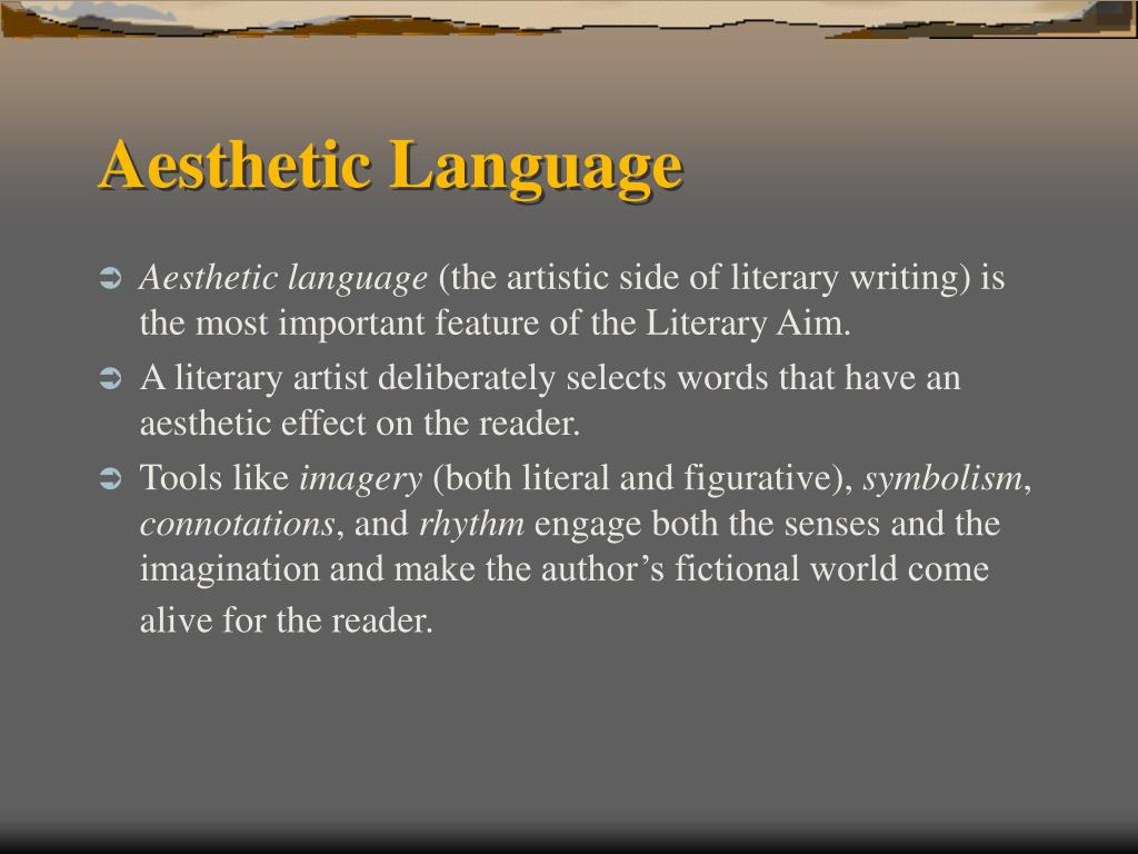 Aesthetic Language