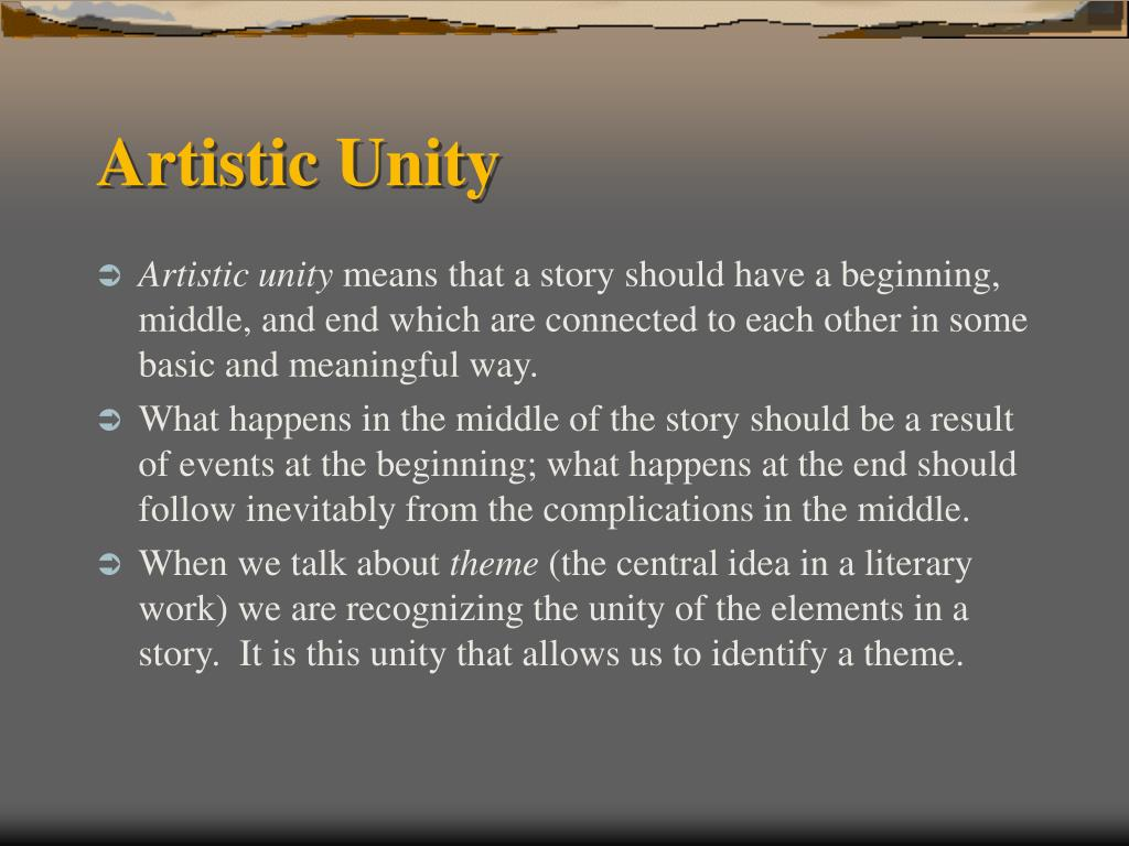 Artistic Unity