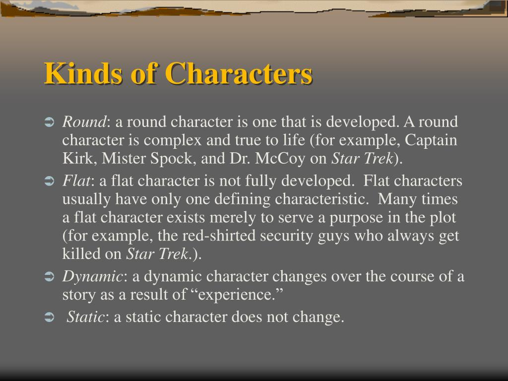 Kinds of Characters