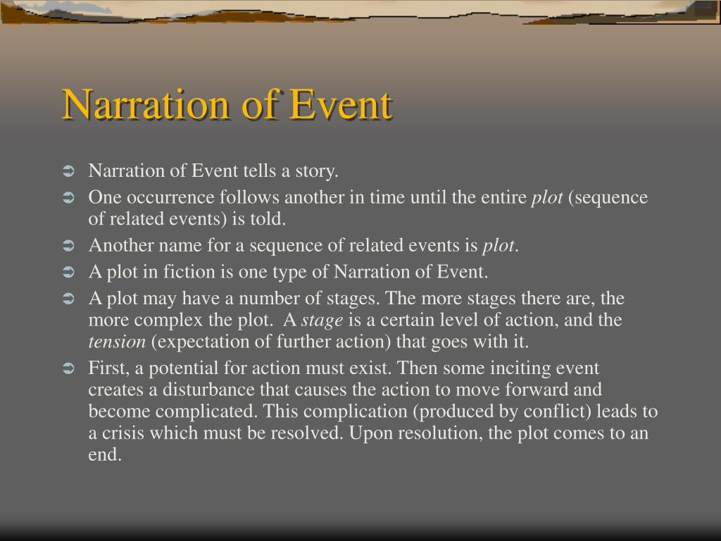 Narration of Event