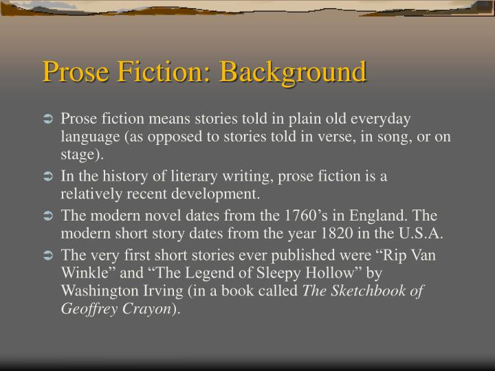 Prose fiction background