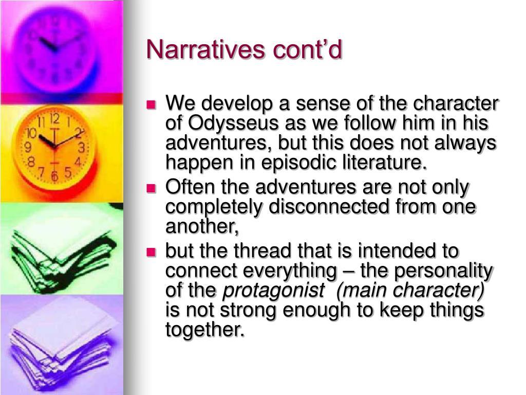 Narratives cont'd