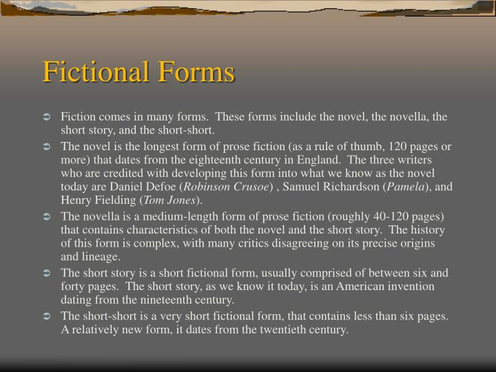 Fictional forms
